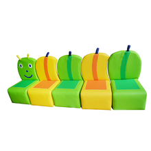 customized made environmental PU soft chairs soft toy sofa plant for kid playground set YLW-INA171025(China)