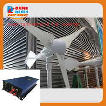 MAYLAR@ 1000W 24V Wind Turbine Dolphin+1000W 22-60VDC Wind grid tie inverter For Wind Power On-grid Tie or Off-grid System(China)
