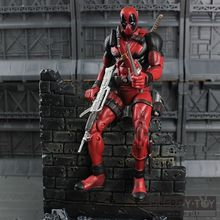 "High quality Deadpool SuperHero X-men 7""/18cm Wade Wilson cool PVC Action figure model toy Collectible"