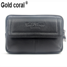 Two style 100% genuine leather men waist packs high quality mobile phone wallet fanny bags for men waist bags