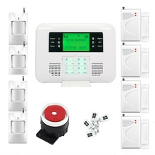 Yobang Security GSM+Line Alarm Home Security Alarm Systems With LCD Keyboard GSM SMS Alarm House Automation Wireless PSTN Alarm