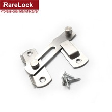 Rarelock Christmas Supplies Hasp Latch Lock Sliding Door for Window Cabinet Women Dress Fitting Room Bathroom Accessorries f