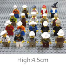 New Arrival 20pcs/set Human Model Action Figure Toy Kids Educational Building Blocks Assembled Toys(China)