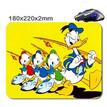 Custom Anime Cut Duck Rubber Soft Gaming rectangula Non-slip Durable Mouse Pad Mat 220*180*2mm As Stylish office accessory&gift