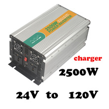 2500W 24V to 120V  dc ac modified sine wave static inverter solar power inverter 2500w 24v 120v power star inverter charger