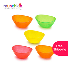 Munchkin Multi baby Bowls 5pk BPA Free Kid Infant Baby Feeding Bowl Food Rice Fruit Dishes Fashion bowls Ch(China)