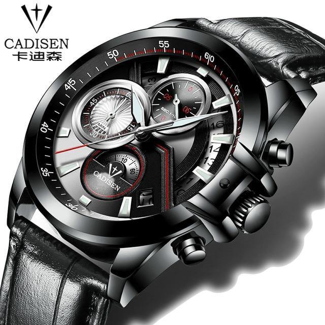Cadisen Pilot Army Military Sport Men  Watch Top Brand  Quartz Male Clock Fashion Casual Outdoor wristwatch Relogio Masculino  <br>