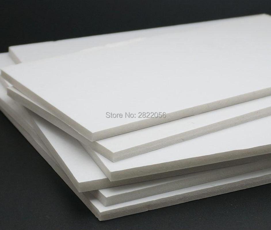 4 Piezas PVC Blanco Hojas de Espuma de Madera de Balsa Junta para