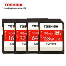 TOSHIBA SD Card 16GB 32GB SDHC 64GB 128GB SDXC UHS-I U3 Memory SD Card Class10 SD Card Flash Memory Card For Camera(China)
