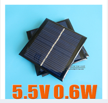 5PCS X 0.6W 5.5V 90mA 0.5w 5V polycrystalline solar Panel small solar cell PV module for mobile phone battery charger