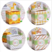 Ctrue 24pcs Circus Animal Paper Candy Box Birthday Party Decorations Kids Baby Shower Goodie Bag Gift Cupcake Chocolate Box(China)