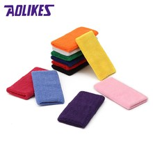 AOLIKES 15X7.5cm Breathable Wrist Support Hand Sweatband Wrist Wrap Brace Protector for Gym Tennis Basketball Fitness Sports