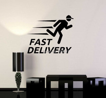 Vinyl Wall Decal Fast Delivery Service Business Store Stickers Mural English Words Wall Sticker Waterproof Art Decals ZB471(China)