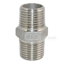 "MEGAIRON 1/2"" Hex Nipple M/M Male*Male Stainless Steel SS304 Threaded Pipe Fittings 40mm Length(China)"