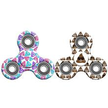 Spinning Top Fidget Hand Spinner Finger EDC ADHD Autism Focus Stress Reliever Toys Funny Excrement Picture Colorful Fidget Toy