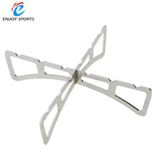 Portable Stainless Steel Camping Stove Stand Outdoor Alcohol Stove Rack Four-legged Support Cooking Equipment Accessory