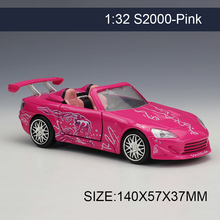 1:32 Diecast Model Car S2000 Pink Vehicle Play Collectible Models Sport Cars toys For FAST AND FURIOUS(China)