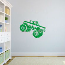 Decorative SUV Wall Decal Off Road Vehicle Vinyl Sticker for Kids Boys Room Playroom Decoration