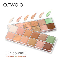 O.TWO.O 12 Colors Oil-free Face Cream Makeup Concealer Palette Contour kit Acne Cover Concealer Cream Long Lasting Waterproof(China)