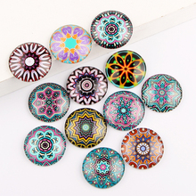 reidgaller mix mandala photo round glass cabochons 10mm 12mm 25mm diy earrings jewellery making accessories