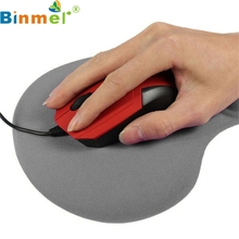 Binmer Mecall Tech New Fashion Multi-Colors Mouse Pad With Gel Wrist Support for PC Notebook Laptop Tablet PC Free Shipping(China)