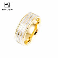 2016 Kalen Classic Jewelry Stainless Steel Engagement Wedding Rings Cheap Women's Finger Rings Accessories Gift Made In China