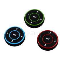 Wireless Car Kit Bluetooth Handsfree MP3 Music Player AUX Receiver Adapter Round clip with 3.5MM USB 3 colors Car FM Transmitter