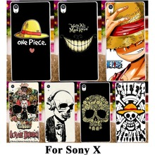 Silicone Plastic Mobile Phone Case For SONY Xperia X F5121 Dual F5122 5.0'' Cover Skull Head Naruto Bags Hood Shell Housing