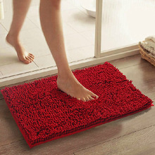 home decoration bath mats chenille carpet mats doormat kitchen bathroom absorbent non-slip mat tapete 21Color can be customized