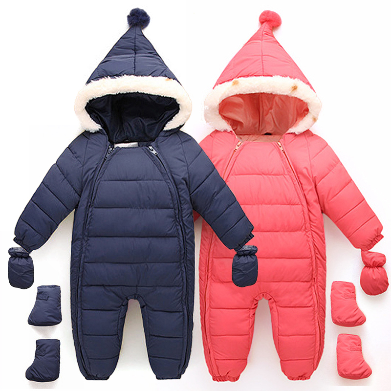 Down Cotton Baby Rompers Winter Thick Boys Costume Girls Warm Infant Snowsuit Kid Jumpsuit Children Outerwear Baby Wear 0-18M<br>