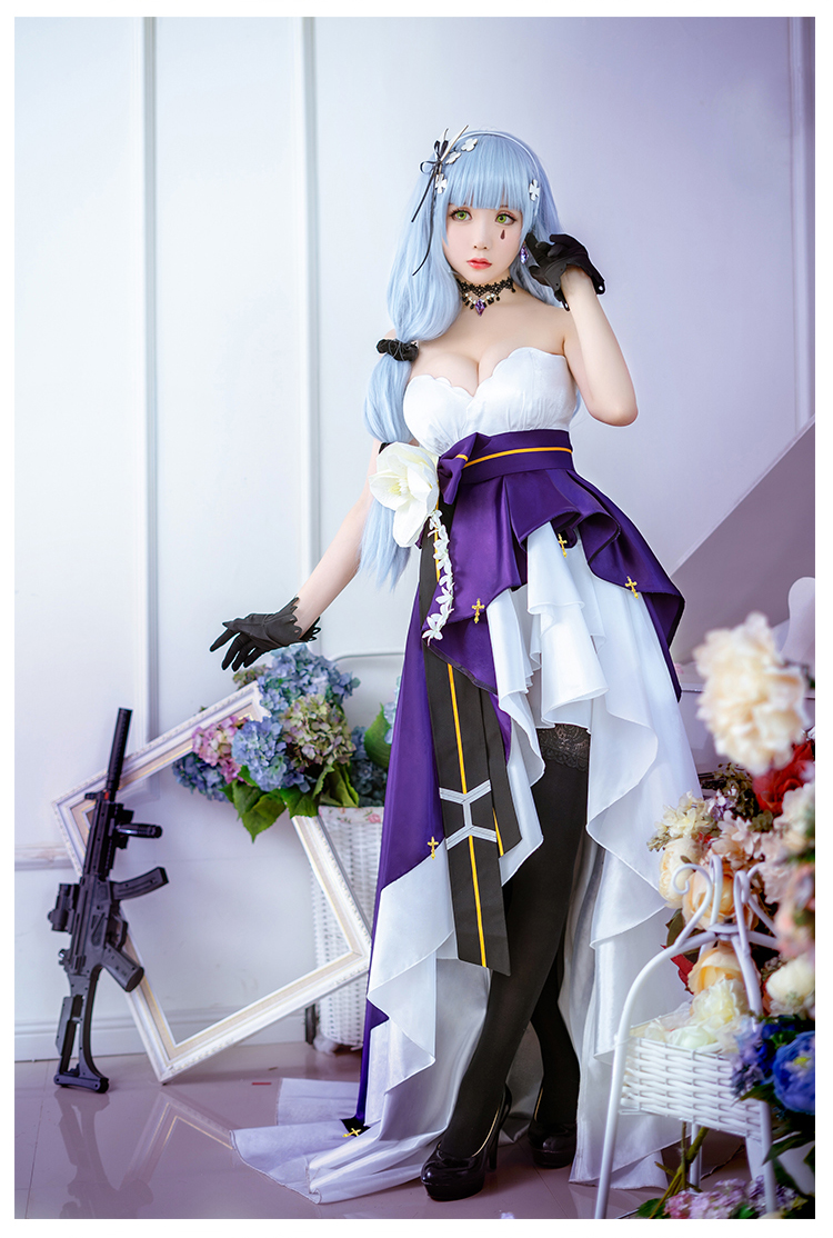 Game Girls Frontline HK416 Cosplay Costume Women Delux Fomal Dress Halloween Carnival Uniforms