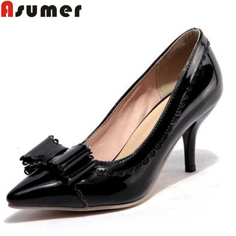 2017 Big size 34-43 Hot sale high heels pumps for women pointed toe womens dress shoes soft leather fashion shoes<br><br>Aliexpress