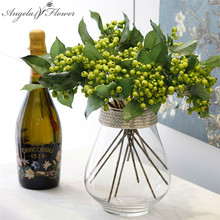 Artificial berry simulation fruit 4 color H-Q small fake plant wedding decoration for home hotel party table accessories 1pcs(China)