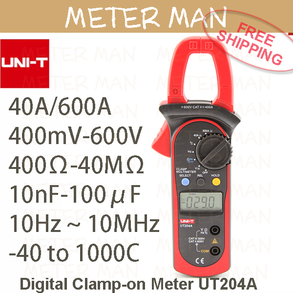 Unit Proffesional Brand New Auto Range 4000 Count   Resistance Capacitance Frequency Temperature  Digital Clamp Meter UT204A<br><br>Aliexpress