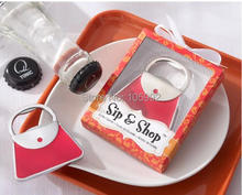 handbag alloy Opener 100pcs Wedding Favor wedding supplies bridesmaid gifts(China)