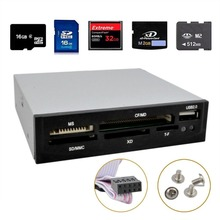 "3.5"" All in 1 USB Metal MS/XD/TF/CF/MD/SD/MMC Multi Memory Internal Card Reader"