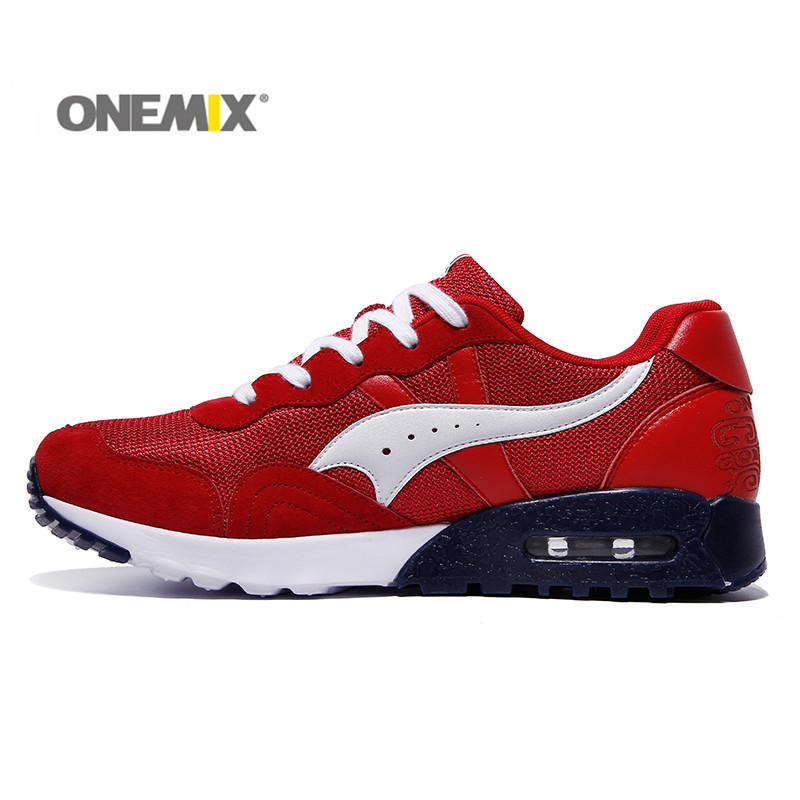 Onemix Retro Running Shoes Outdoor Sneaker Unisex Sport Shoes for Lovers Stability Breathable Shoes for Trekking Camping Black <br>