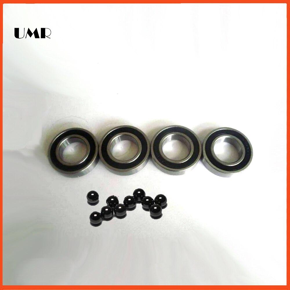 SC6001-2RS 12x28x8 mm s6001 MAVIC /NOVATEC wheel hub bearing upgraded version of stainless steel Si3N4 ceramic hybrid bearings<br>