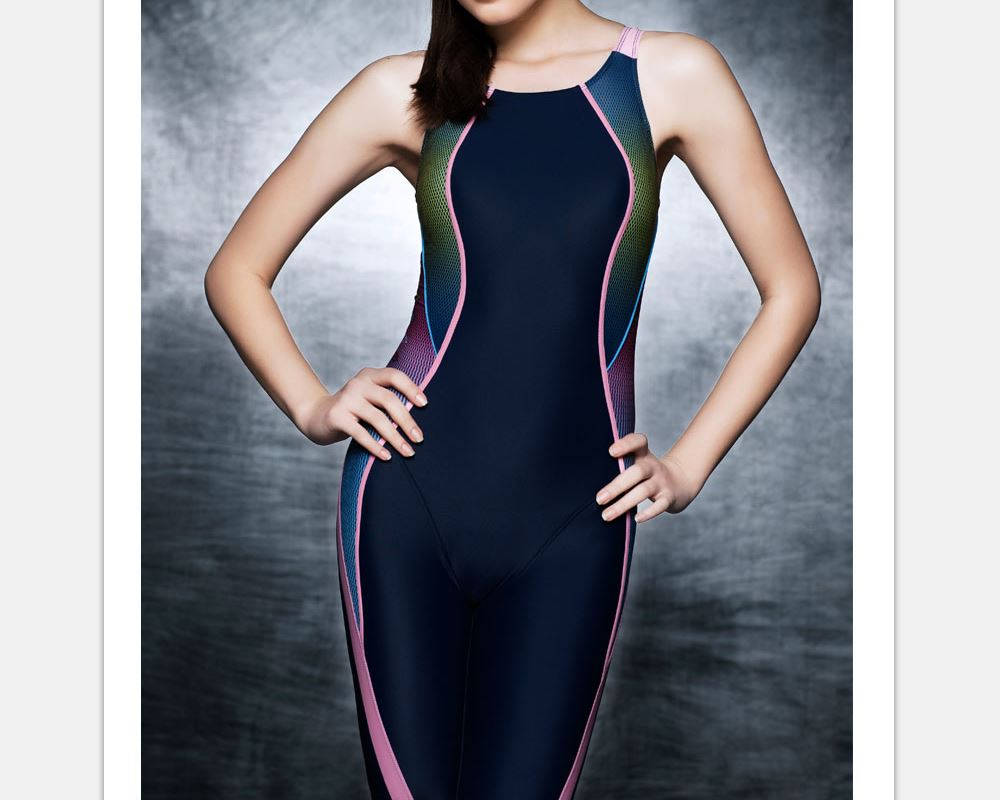 Body Sculpting Competition Swimsuit Women Competitive Swim Patchwork Bathing suit training swimming Tight One piece Swimwear<br>