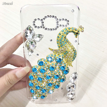 Buy Hot New Luxury 3D Peacock Bird bling Crystal Rhinestone diamond Mobile phone case hard skin back cover iphone 8 i8 8G Cases for $4.99 in AliExpress store