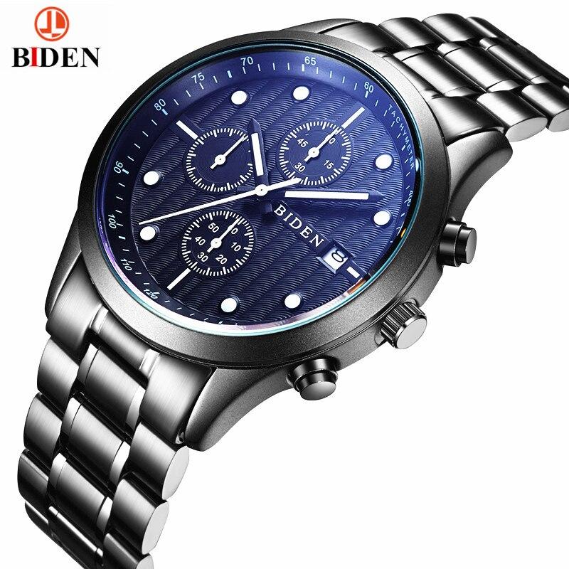 BIDEN Luxury Brand Analog Display Date Mens Quartz Watch Casual Steel Watch Men Watches relogio masculino<br><br>Aliexpress