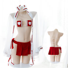 Mujer Anime psíquico Cosplay disfraces Kimono japonés bruja uniforme  lencería Sexy Bikini conjunto disfraces de Halloween d68db83b8c2e