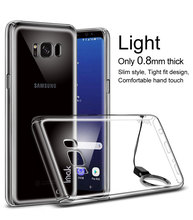 10 pcs,IMAK crystal 3 Upgrading 0.8mm thick case+Free soft explosion-proof screen+Free mobile lanyard,For Samsung Galaxy S8