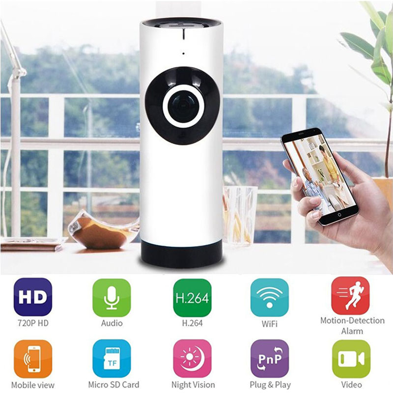 Wireless Electronic Baby Monitor WiFi IP Camera Nanny Video Babysitter With Motion Detection Intercom 180 Panoramic Camera<br>