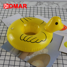 DMAR 3pcs Inflatable Yellow Duck Drink Holders Pool Float Cup Holder Kids Bath Toys Swimming Ring Circle Beach Pool Party NEW