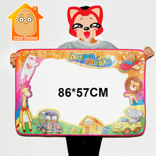 MiniTudou 86*57CM Water Drawing Mat With 2PCS Magic Pen Child's Drawing Board/Drawing Mat Coloring Painting Games