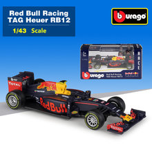 Free Shipping/Bburago Toy/Diecast Metal Model/1:43 Scale/2016 Red Bull Racing Team TAG Heuer RB12 F1 Car/Educational Collection(China)