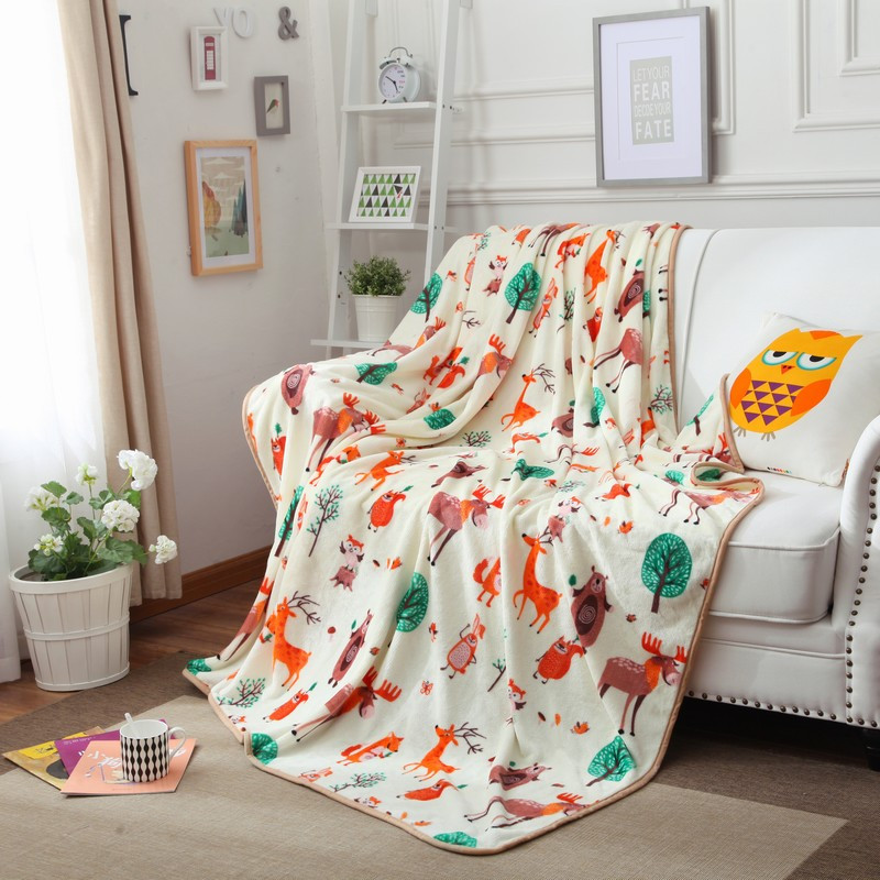 Autumn winter's new flannel blanket with warm and thick coral wool blanket/150x200/180*200/200x230/(China (Mainland))