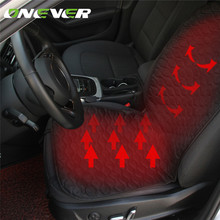 Onever Good Quality Car Heated Seat Cushion Heating Pad Cover Hot Warmer with Built-In Thermostat HI/LO Mode for Winter(China)