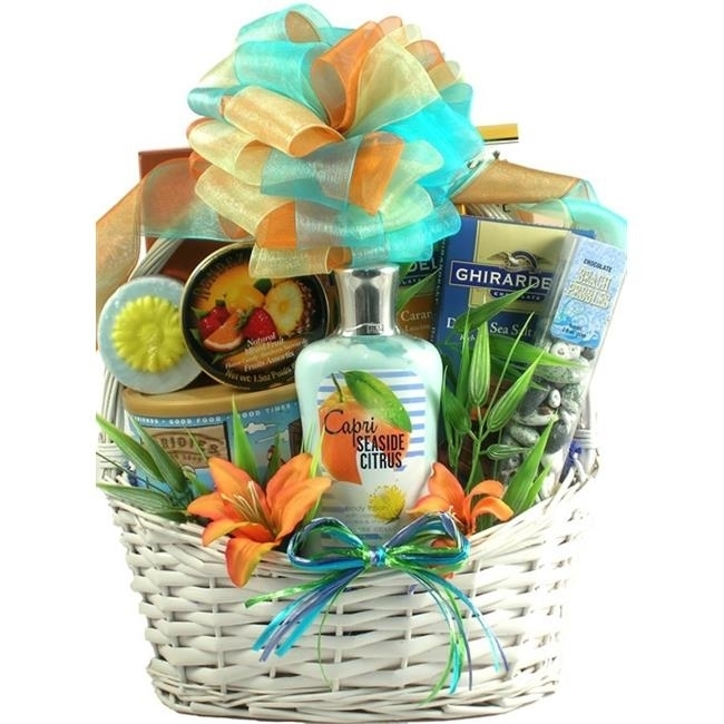 Gift Basket Drop Shipping SeScSa Seaside Scent-sation Tropical Spa & Gourmet Gift Basket (1)